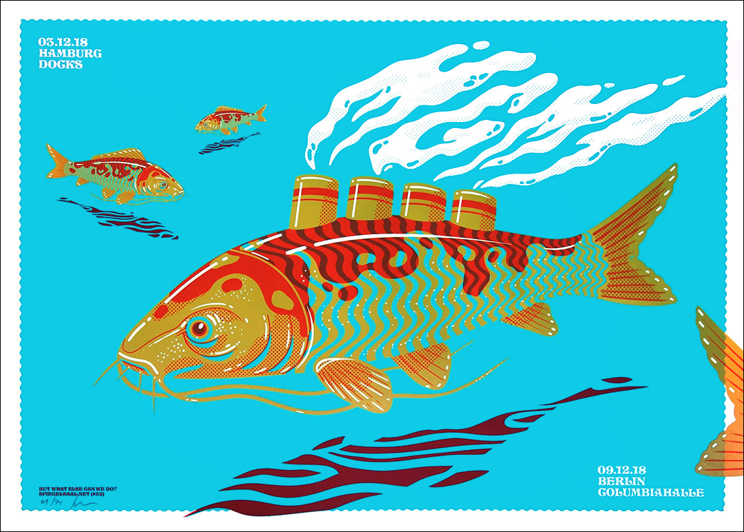 Gig posters by Siegelsaal.net