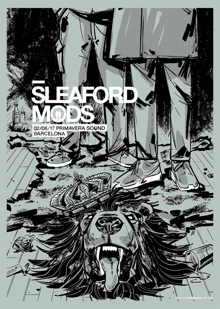 Gig posters by Spiegelsaal.net
